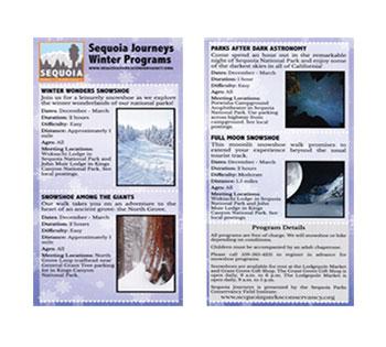 Sequoia Journeys Winter Programs 2018